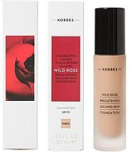 Profumi e cosmetici Fondotinta - Korres Wild Rose Brightening Second Skin Foundation SPF15