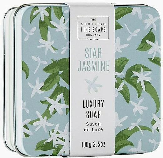 """Sapone corpo in scatola di metallo """"Star Jasmine"""" - Scottish Fine Star Jasmine Soap In A Tin — foto N1"""