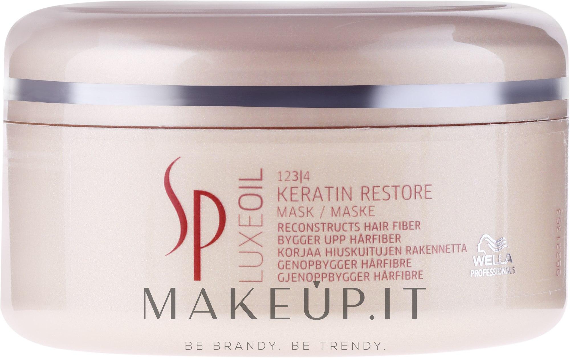 Maschera per ripristinare la cheratina dei capelli - Wella SP Luxe Oil Keratin Restore Mask — foto 150 ml