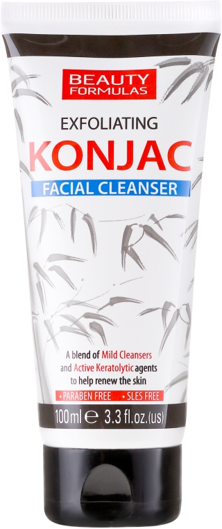 Gel detergente viso - Beauty Formulas Exfoliating Konjac Facial Cleanser