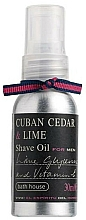 Profumi e cosmetici Bath House Cuban Cedar & Lime - Olio da barba