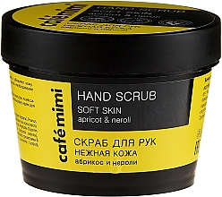 """Profumi e cosmetici Scrub per mani """"Tender Skin"""" albicocca e neroli - Cafe Mimi Hand Scrub Soft Skin"""