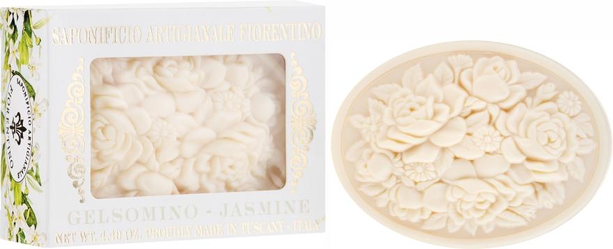 """Sapone naturale """"Gelsomino"""" - Saponificio Artigianale Fiorentino Botticelli Jasmine Soap"""