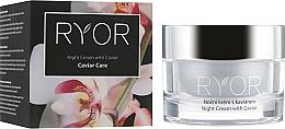 Profumi e cosmetici Crema viso con estratto di caviale, da notte - Ryor Night Cream With Caviar