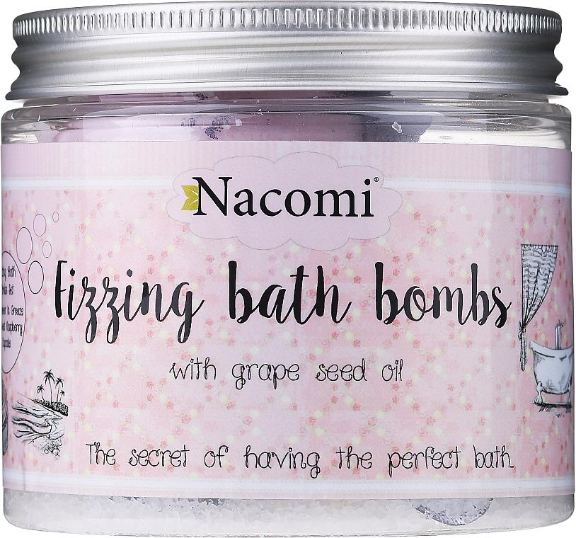 Set di bombe da bagno - Nacomi Fizzing Bath Bomb With Grape Seed Oil (bomb/4pezzi)