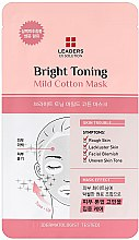 Profumi e cosmetici Maschera illuminante per il viso - Leaders Ex Solution Bright Toning Mild Cotton Mask