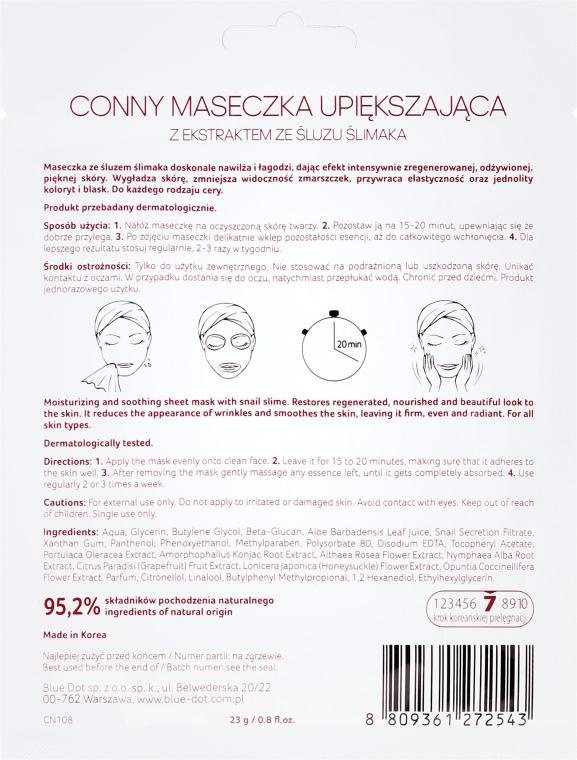 "Maschera per il viso ""Lumaca"" - Conny Snail Essence Mask — foto N2"