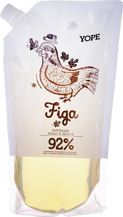 "Sapone liquido ""Fico"" (doypack) - Yope Fig Tree Natural Liquid Soap Refill Pack"