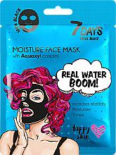 Profumi e cosmetici Maschera viso - 7 Days Total Black Moisture Real Water Boom