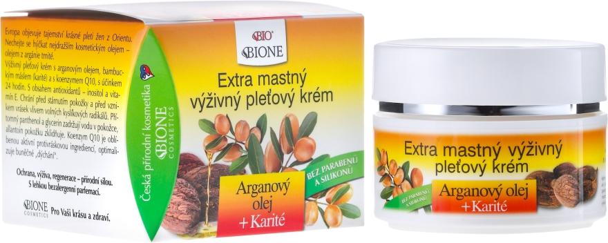 Crema viso nutriente con olio di argan - Bione Cosmetics Argan Oil Extra Greasy Nourishing Facial Cream — foto N1