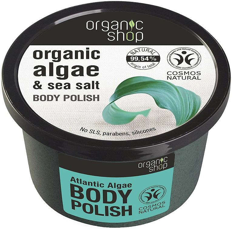 "Scrub corpo ""Alghe atlantiche"" - Organic Shop Body Scrub Organic Algae & Sea Salt"