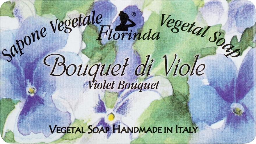 "Sapone naturale ""Bouquet di violet"" - Florinda Sapone Vegetale Vegetal Soap Violet Bouquet"