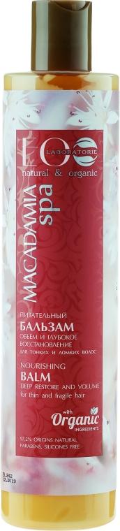 "Balsamo capelli nutriente ""Volume and Deep Recovery"" - Eco Laboratorie Macadamia Spa Nourishing Balsam — foto N1"