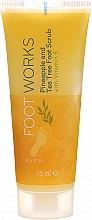 """Profumi e cosmetici Scrub per piedi """"Albero del tè e ananas"""" - Avon Foot Works Pineapple And Tea Tree Foot Scrub"""