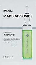 Profumi e cosmetici Maschera viso con madecassoside - Missha Mascure Rescue Solution Sheet Mask Madecassoside