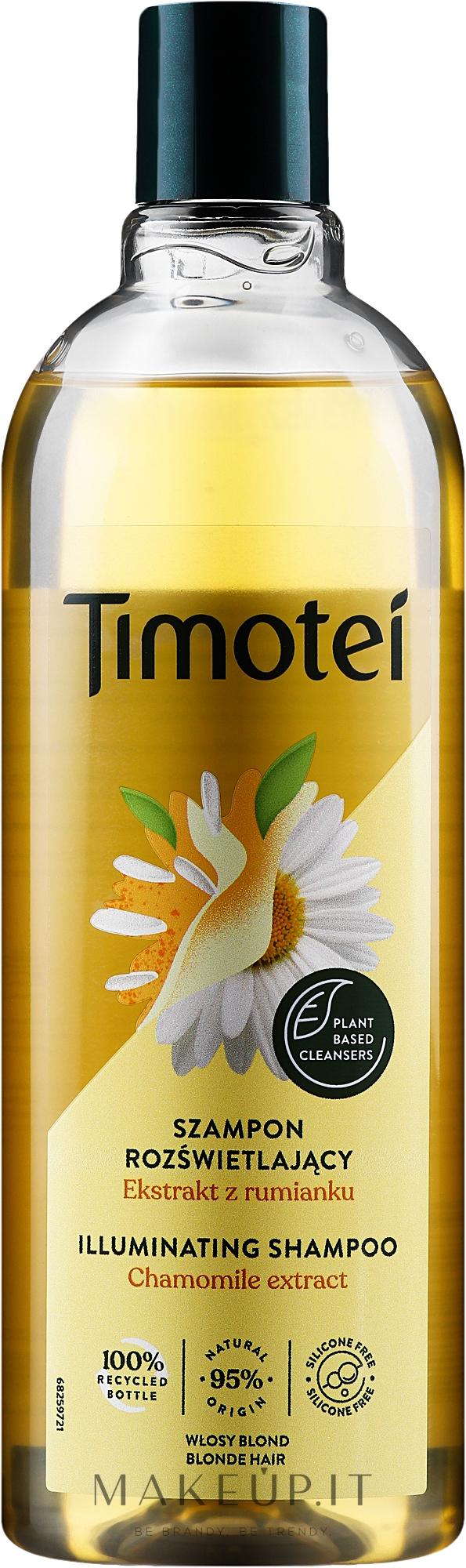 """Shampoo-condizionante """"Rosa di Gerico con camomilla"""" - Timotei Golden Highlights Shampoo  — фото 400 ml"""