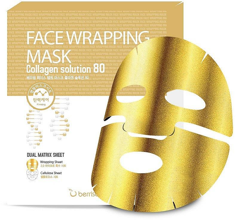 Maschera dorata al collagene - Berrisom Face Wrapping Mask Collagen Solution — foto N1