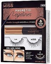 Profumi e cosmetici Set - Kiss Magnetic Eyeliner & Lash Kit Lure (eyeliner/5g + lashes)