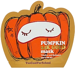 Profumi e cosmetici Maschera nutriente con estratto di zucca e oro - Too Cool For School Pumpkin 24k Gold Mask