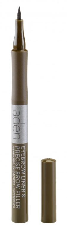 Marker per le sopracciglia - Aden Cosmetics Eyebrow Liner & Precise Brow Filler