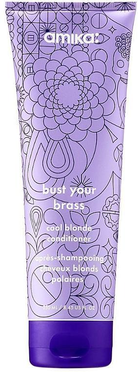 Balsamo per capelli anti-giallo - Amika Bust Your Brass Cool Blonde Conditioner — foto N1
