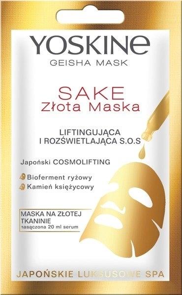 Maschera-lifting illuminante viso - Yoskine Geisha Mask Sake