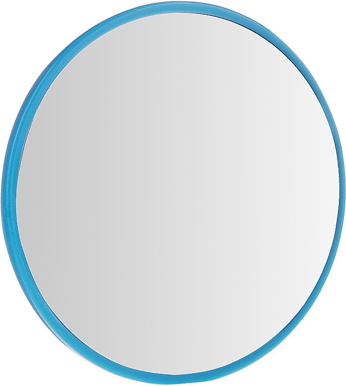 Specchio rotondo compatto, 7 cm, blu - Donegal — foto N1