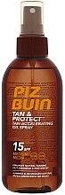 Profumi e cosmetici Olio protettivo per un'abbronzatura rapida - Piz Buin Tan&Protect Tan Accelerating Oil Spray SPF15