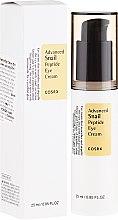 Profumi e cosmetici Crema contorno occhi con peptidi e bava di lumaca - Cosrx Advanced Snail Peptide Eye Cream