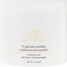 Profumi e cosmetici Peeling tropicale con ananas liofilizzato - Apis Professional Pina Colada Body Tropical Scrub