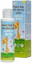 Profumi e cosmetici Lozione capelli per bambini all'aloe vera - Azeta Bio Organic Baby Hair Aloe Vera Lotion
