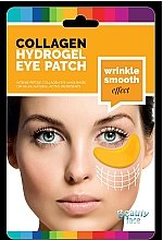 Profumi e cosmetici Maschera contorno occhi, al collagene con oro e acido ialuronico - Beauty Face Collagen Hydrogel Eye Mask