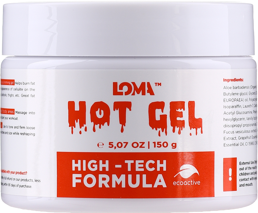 Crema-gel corpo riscaldante - Loma Sports Hot Gel Cream
