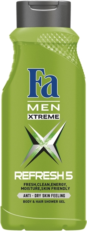 "Gel doccia ""Men Xtreme Refresh 5"" - Fa Men — foto N3"