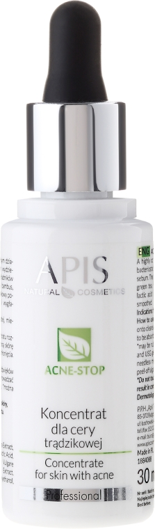 Concentrato per viso - APIS Professional Concentrate For Acne Skin