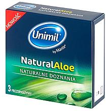 Profumi e cosmetici Preservativi per lei, 3 pezzi - Unimil Natural Aloe