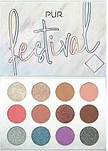 Profumi e cosmetici Palette ombretti - Pur Festival 2.0 12-Piece Pressed Pigments Palette
