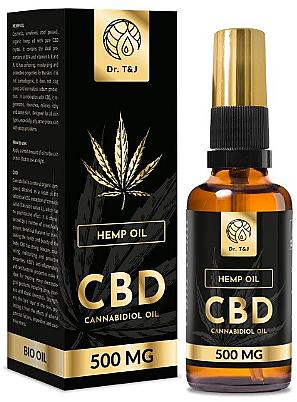 Olio di canapa naturale Bio CBD 500mg - Dr. T&J Bio Oil
