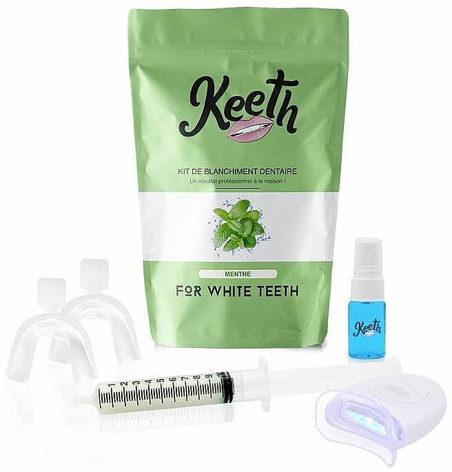 "Kit per lo sbiancamento dei denti ""Menta - Keeth Mint Teeth Whitening Kit"