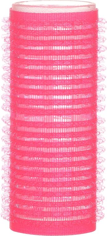 Bigodini con velcro 24/63, rosa - Ronney Professional Velcro Roller — foto N2