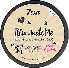 Profumi e cosmetici Scrub corpo ammorbidente allo zucchero - 7 Days Illuminate Me Miss Crazy Soothing Sugar Body Scrub