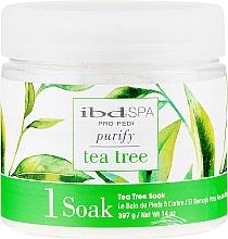 Profumi e cosmetici Sale da bagno detergente piedi, con estratto di albero del tè - IBD Tea Tree Purify Pedi Spa Soak