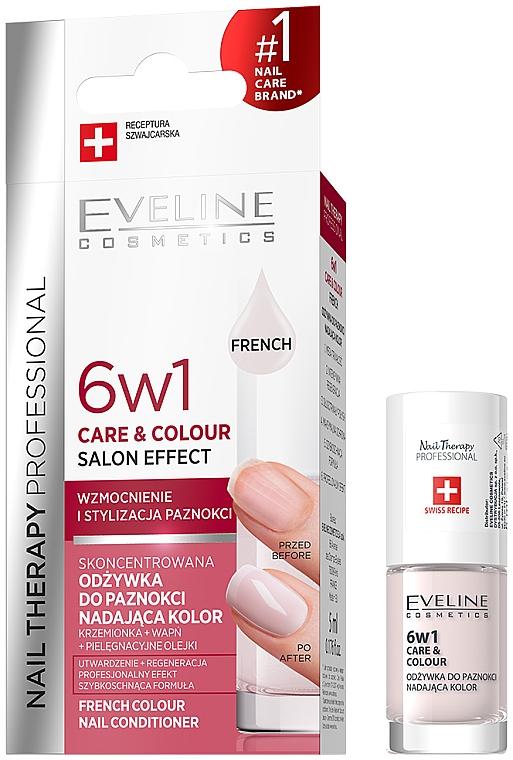 Balsamo colorato per unghie 6in1 - Eveline Cosmetics Nail Therapy Professional