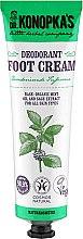 Profumi e cosmetici Crema piedi rinfrescante - Dr. Konopka's Deodorant Foot Cream