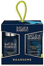 Profumi e cosmetici Set - Baylis & Harding Men's Citrus Lime & Mint 4 Piece Box(hair/body/wash/100ml+sh/gel/50ml+face/wash/100ml+a/sh/balm/50ml)