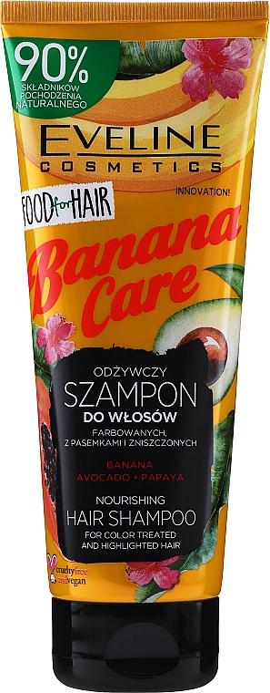 Shampoo nutriente per capelli colorati - Eveline Cosmetics Food For Hair Banana Care Shampoo