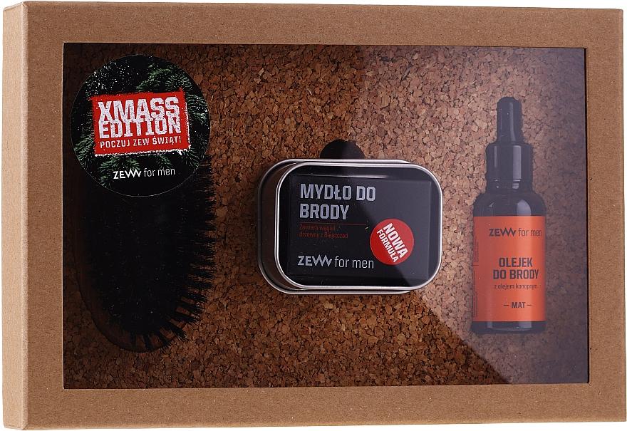 Set - Zew For Men (oil/30ml + soap/85ml + brush/1pcs + soap/holder/1pcs) — foto N1