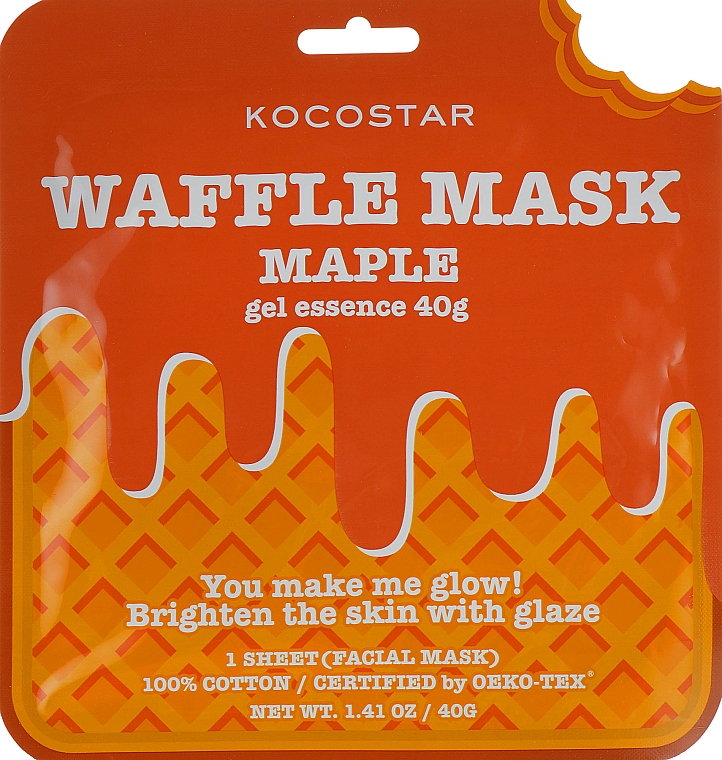"Maschera rigenerante ""Sciroppo d'acero"" - Kocostar Maple Waffle Mask — foto N1"