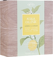 Profumi e cosmetici Maurer & Wirtz 4711 Aqua Colognia Lemon & Ginger - Set (edc/50ml + sh/gel/75ml)