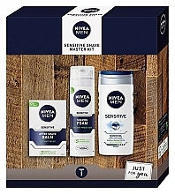 Profumi e cosmetici Set - Nivea Sensetive Shave Master (sh/foam/200ml + sh/gel/250ml + a/sh/balm/100ml)
